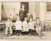 Lower Union School - Harry Perkins & Unruly Class - Dustbowl Schoolhouse Class Portrait -  ca 1920