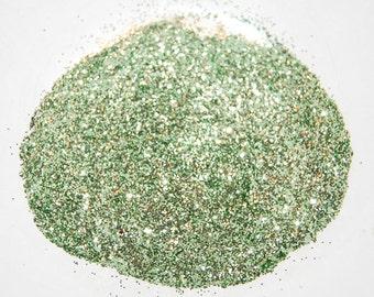 Sea Green SOLVENT RESISTANT GLITTER 0.015 Hex - 1 Fl. Ounce for Glitter Nail Art, Glitter Nail Polish and Glitter Crafts