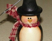 Penguin ornament, hand painted, christmas ornament, wooden