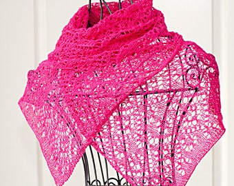"Pattern for summer lace scarf ""Rebecca"""