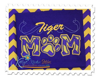 Tiger Mom Applique with a Twist - Paw