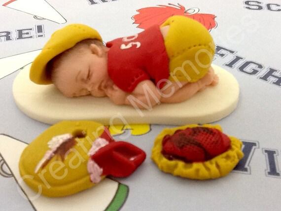 Edible Cake Images Football : Football Player Edible Cake Toppers Made of Vanilla Fondant