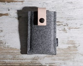 iPhone 4S Case (Gratan) - wool felt and tan leather