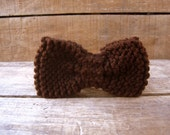 Knit Bow Tie in Coffee Brown - BohemianHollow
