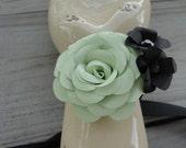 Paper Flower Rose Wrist Corsage Wedding Prom Wrist Corsage Bracelet