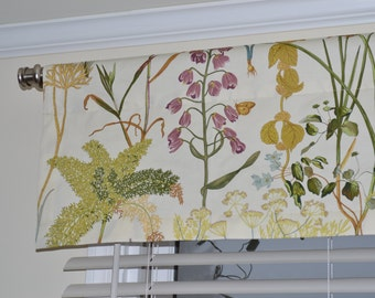 """Valance, window treatment, approximately 50"""" wide and 13"""" tall,  ready to ship, more available"""