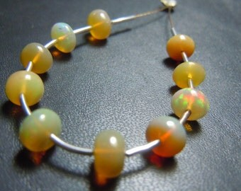 Ethiopian Welo Opal Smooth Rondelle Beads Size - 5MM To 7MM 10Pc Top Quality Ethiopian Opal Beads