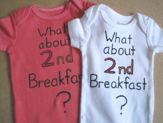 Hungry Baby Onesie -Hand Painted-