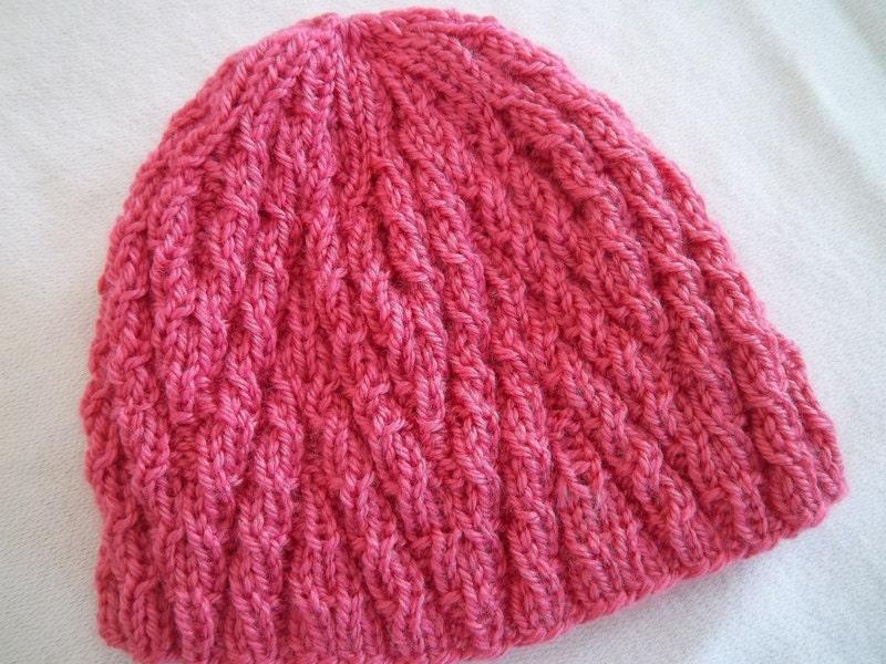 Knitting Pattern for Chevron Hat pdf