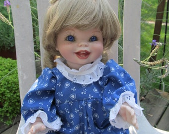 """16"""" All - porcelain bisque toddler doll, Janie. Handmade"""