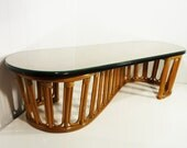 HOLD 50s rattan coffee table vintage coffee table