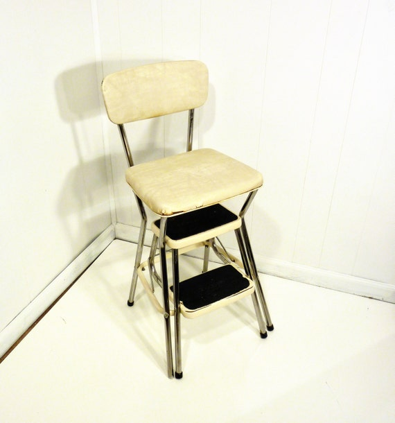 retro cosco 50s vintage step stool kitchen stool by