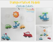 Baby Crib Mobile-Cars and Helicopter Mobile-custom Made Mobile- Transportation Crib Mobile