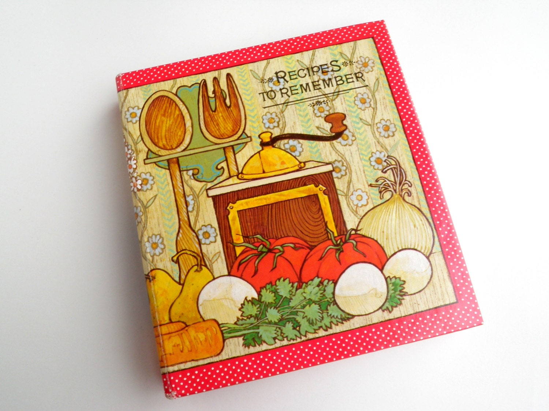 recipe file album vintage hallmark recipe book by wildplumtree