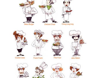 Fun Chefs Embroidery Design Collection - CD