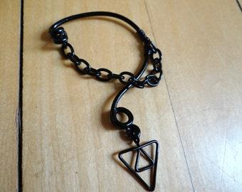 The Legend of Zelda's® Dark Link Inverted Triforce of Wisdom Ear Bend