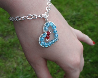 L.O.Z.® Classic Crystal Heart Container Bracelet