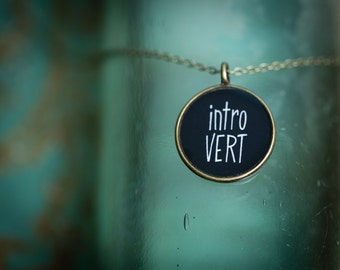 Introvert Pendant - Gift For Crafter - Glossy Resin Charm