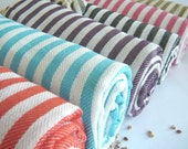Natural Turkish Towel, Peshtemal, beach towel, bath towel, pareo, sarong, yoga, Spa, Turquoise color - TheAnatolian