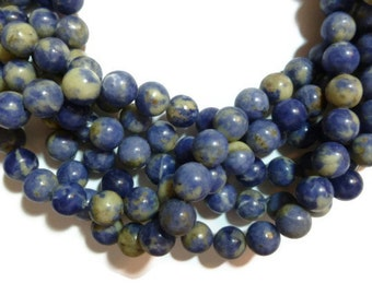 Blue Sodalite - 10mm Round - Full Strand - 39 beads