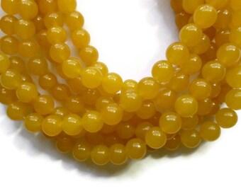 Apricot Jade - 8mm Round - 49 beads - Full Strand