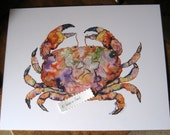 11x14 Crab Watercolor Print