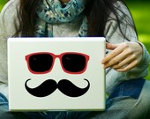 Mustache and Sunglasses Sticker Decal Laptop Decal iPad