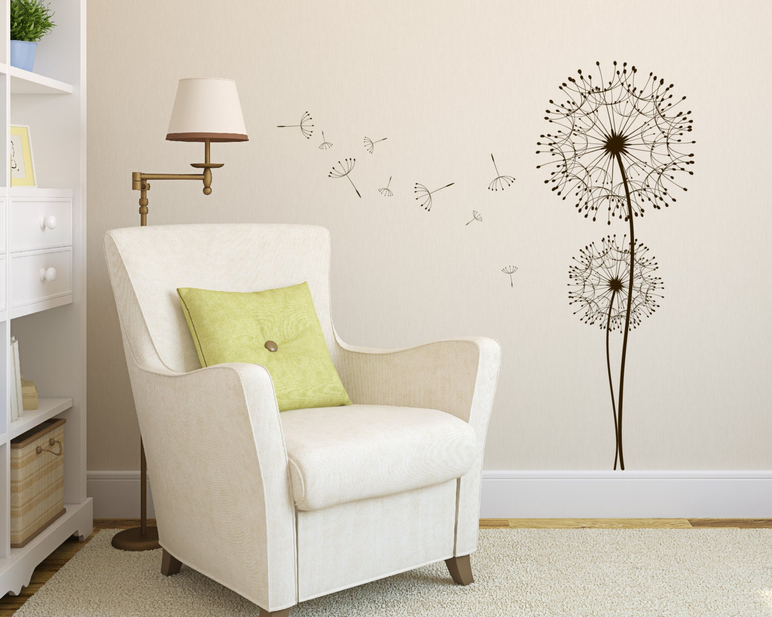 Wall decal dandelion