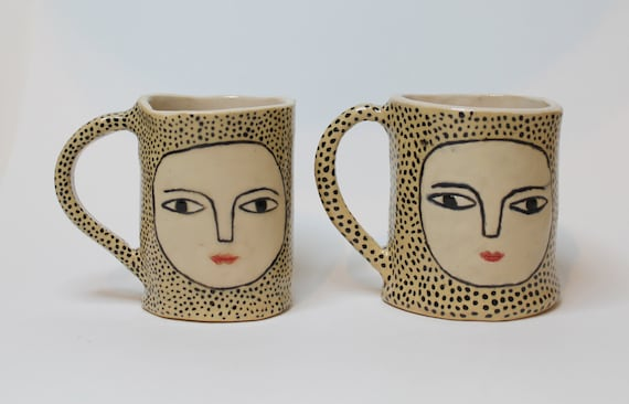 Dot by Dot - Wonky Beauties- Ceramic Espresso Cups - handmade
