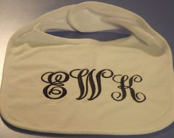 Personalized Baby Bibs, many colors & fonts, boys and girls,