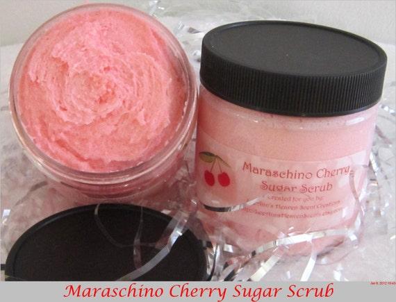 Maraschino Cherry Sugar Scrub