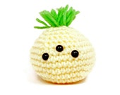 Kawaii Yellow Monster Doll - Amigurumi Plush Monster Toy