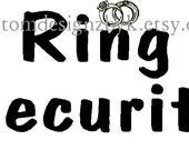 Wedding Ring Security iron-on shirt decal transfer NEW