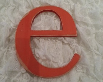 Handpainted Wooden Wall Letter - 'e' - New Times Roman - lowercase