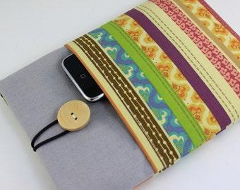 iPad mini Case, iPad mini Sleeve, iPad mini Cover, PADDED - Colorful Floral Stripes