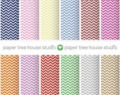 Digital Papers - Chevron - Twelve 8.5 x 11 and 12 x 12 inch Print Ready Files - PNG Format - ID1005