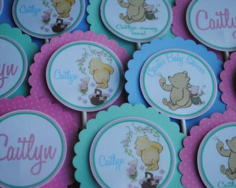 NEW - Classic Pooh Baby Shower Cupcake Toppers