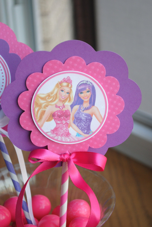 New princess and popstar barbie centerpiece set of 3 by mlf465 - Barbie princesse popstar ...