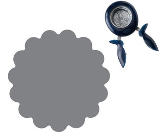 SEAL OF APPROVAL -  Large Scalloped Circle Easy Squeeze Punch by Fiskars