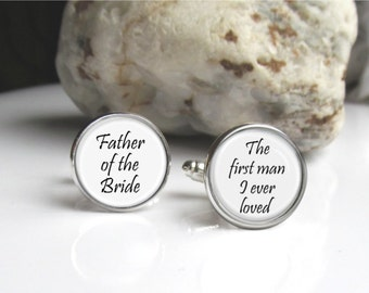 Father Of The Bride Wedding Cufflinks, Keepsake Cufflinks For Dad