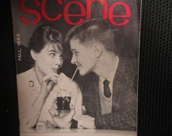 TEEN SCENE Fall 1962 Magazine Chicago Bears Bill Wade Youth Publication Boysville girlsville USA Are You Ready for a Rod Kitschy