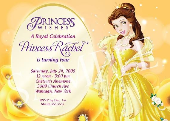 Items similar to Princess Birthday Invitation Template on Etsy