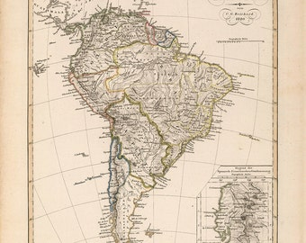 1820 Map of South America