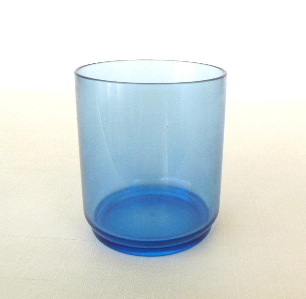 Rubbermaid Plastic Tumbler Cup Glass Blue by LaurasLastDitch