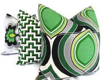 Emerald Green Lotus Pillow Cover  lumbar pillow - Accent Pillow - Throw Pillow, HGTV pillow, toss pillow, Eurosham, pillow cushion