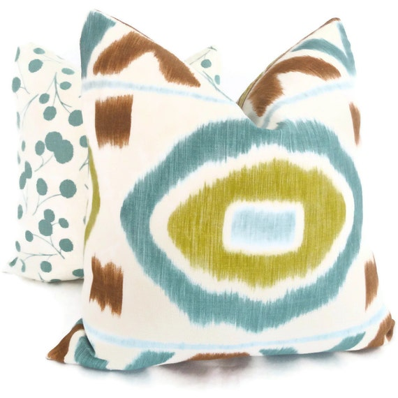 Thom Filicia Abstract Ikat Decorative Pillow Cover 18x18, 20x20 or 22x22, Throw Pillow, Accent Pillow, Toss Pillow