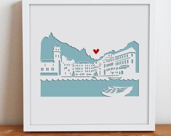"""Vernazza, Italy - 11x14"""" Personalized Gift or Wedding Gift"""