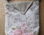 Upcycled floral bag with triangle flap - Clearance sale