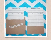 Brown Kraft Standard Library Pockets 25 pockets