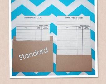 Brown Kraft Standard Library Pockets 25 pockets